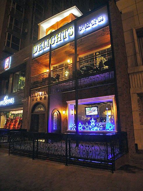 天津 狄拉餐廳建築外觀:  辦公室&店面 by 直譯空間設計有限公司