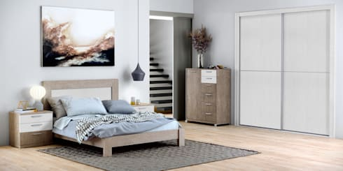 dormitorio de matrimonio dormitorios de estilo moderno de baixmoduls