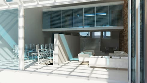 chill: minimalistic Living room by Edge Design Studio Architects