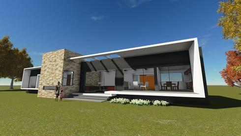 vista frontal casa:  de estilo  por Vinci studio