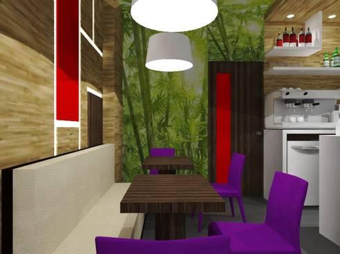 Restaurante Aucusine. : Restaurantes de estilo  por SCABA EQUIPAMIENTO Y ARQUITECTURA COMERCIAL , C.A.