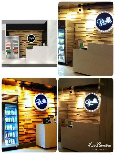 台北信義微風-GENIE JUICERY果汁專櫃:  購物中心 by 凱泰室內裝修