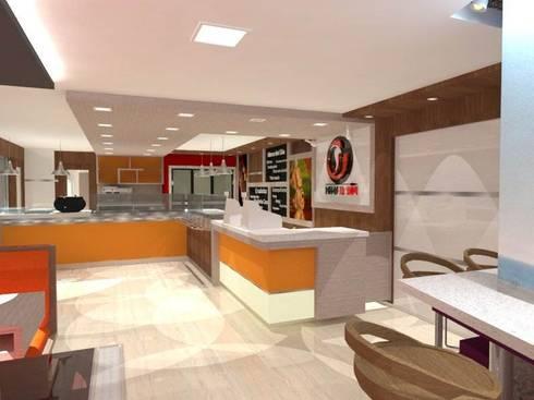 Churrasqueria Pollos la Tribu. : Restaurantes de estilo  por SCABA EQUIPAMIENTO Y ARQUITECTURA COMERCIAL , C.A.