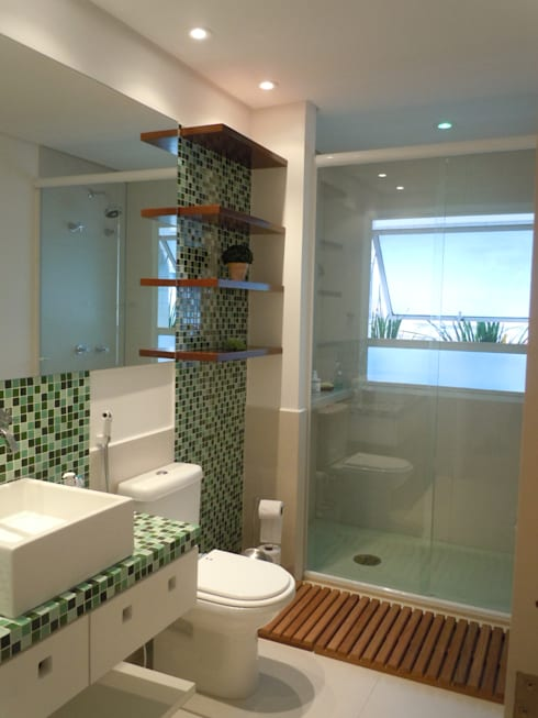 Baños de estilo moderno por LX Arquitetura
