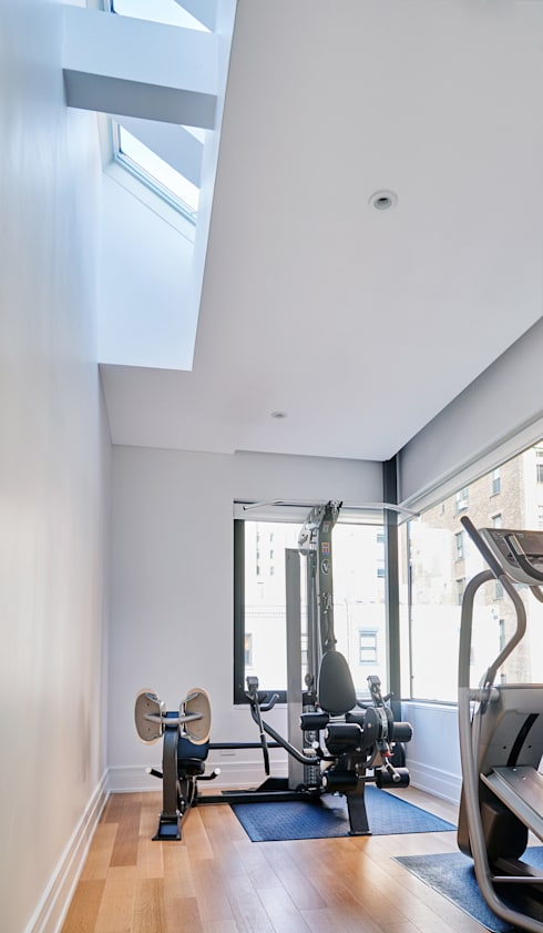 Park Slope Townhouse:  Gym by Sarah Jefferys Design
