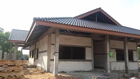 งานก่อสร้างบ้านพักชั้นเดียว:   by PassionHouse