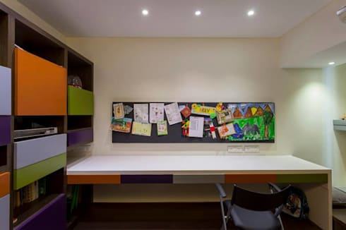 Choudhary Residence, Juhu, Mumbai: eclectic Study/office by Inscape Designers