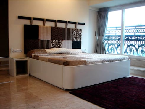 Choudhary Residence, Juhu, Mumbai: eclectic Bedroom by Inscape Designers