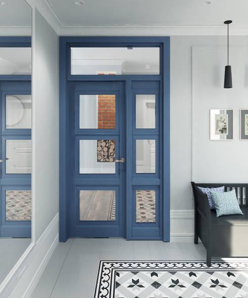Wiatrołap: styl , w kategorii Korytarz, przedpokój zaprojektowany przez Saje Architekci Joanna Morkowska-Saj