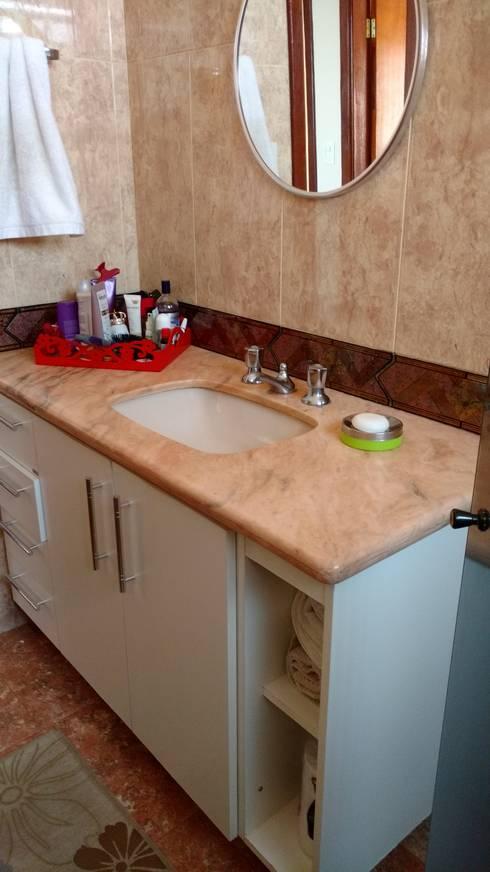 Banheiro social - como era...:   por Mais Arquitetura 34