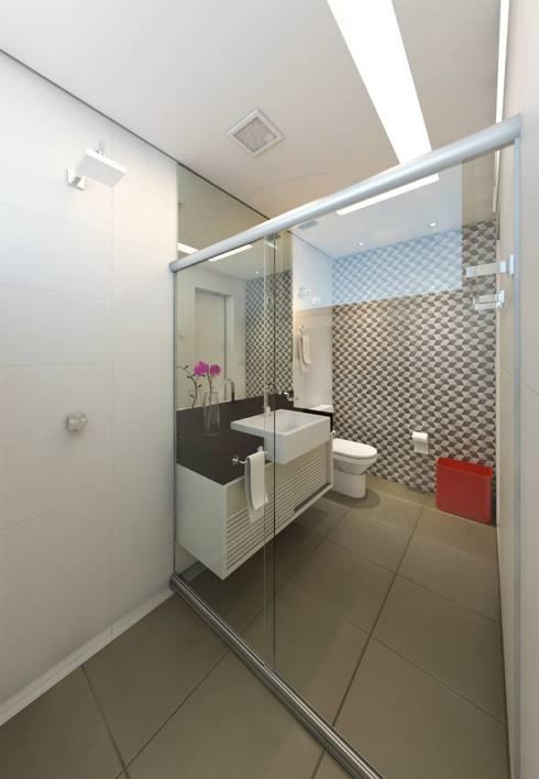 Baños de estilo  por DTE Arquitetura