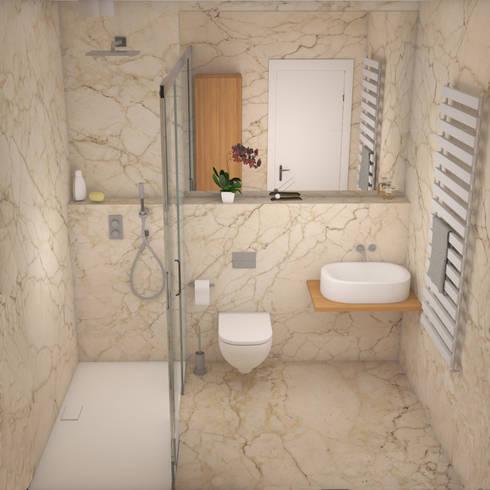 Petite salle de bain marbre par INSIDE YOUR HOME | homify