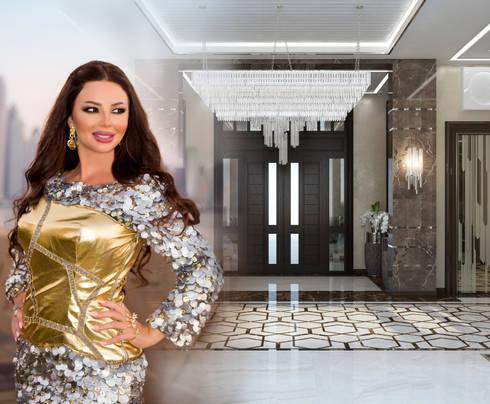 Modern Living room interior of Katrina Antonovich: modern Living room by Luxury Antonovich Design