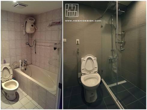 浴室設計對照:  浴室 by 協億室內設計有限公司