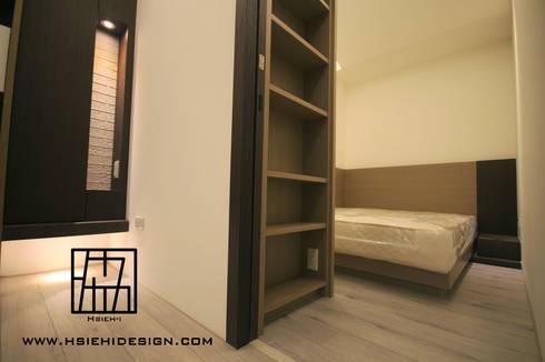 次臥室入口:  臥室 by 協億室內設計有限公司