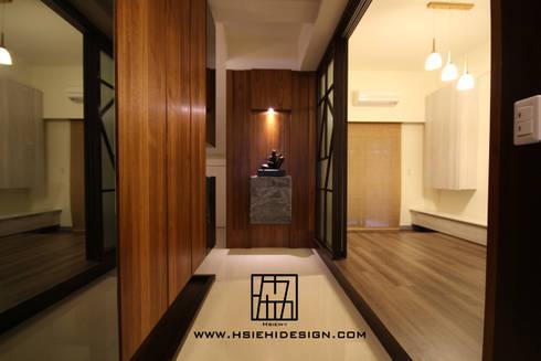 廊道與和室:  走廊 & 玄關 by 協億室內設計有限公司