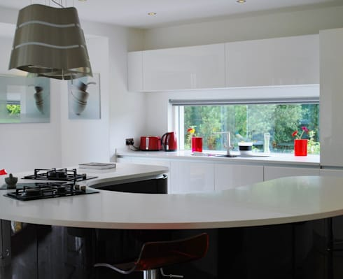 Self-built house, Newry: modern Kitchen by Jim Morrison Architects