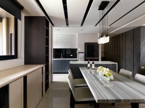 質感設計打造年輕人最愛現代風格:  餐廳 by 拾雅客空間設計