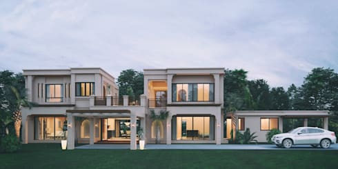 Miss Pritsana's residence:   by Autchawin Architect Co., Ltd.