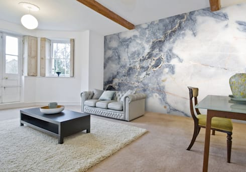 White marble wall mural walls flooring by wallsauce com