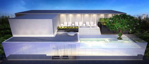 Lunar Suites:   by Autchawin Architect Co., Ltd.