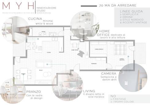 Arredare 70 mq fabulous proposta di casa di metri for 3 metri quadrati di garage per auto