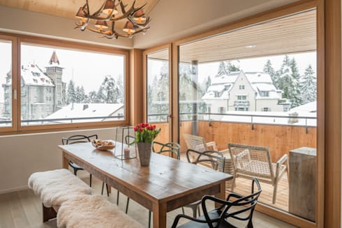 Alpine Interiors 2: rustic Dining room by FVDB Photography