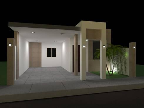 Cochera Casa Habitacion 1 nivel: Garajes de estilo moderno por VIBO CONSTRUCTORA