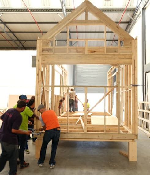 Pod house framework, pod in its infancy.:   by Greenpods