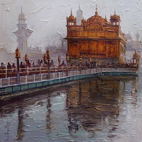 Golden temple:  Artwork by Indian Art Ideas