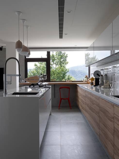2號‧源:  廚房 by 洪文諒空間設計
