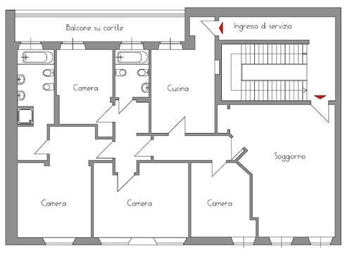 I due bilocali di architetto de grandi homify for Grandi planimetrie dell appartamento