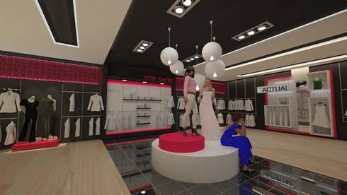 Diseño de locales comerciales: Oficinas y tiendas de estilo  por Dies diseño de espacios