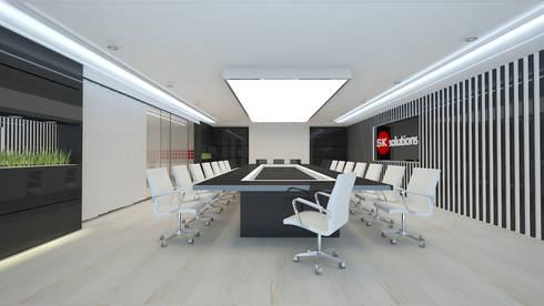 meeting room: Oficinas y Tiendas de estilo  por Dies diseño de espacios