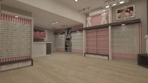 Diseño de tienda ropa interior: Oficinas y Tiendas de estilo  por Dies diseño de espacios