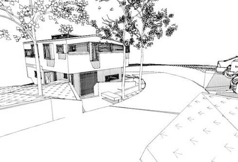 Bocetos: Casas de estilo moderno por Cordova Arquitectura y Construcción .