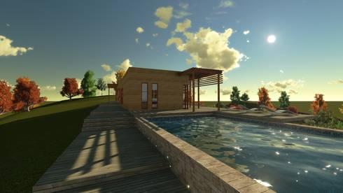 Casa en la Colina : Piscinas de estilo  por CA|Arquitectura