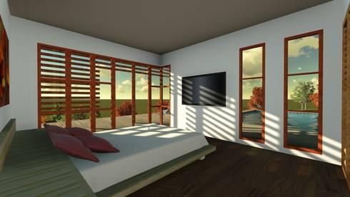 Casa en la Colina : Dormitorios de estilo moderno por CA|Arquitectura
