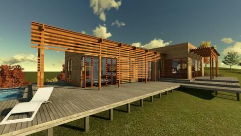 Casa en la Colina : Casas de estilo moderno por CA|Arquitectura