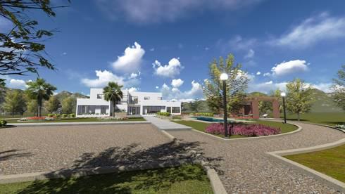 Vivienda F & V: Casas de estilo mediterraneo por CA|Arquitectura