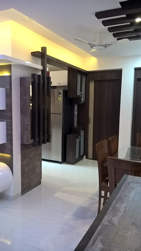 2 BHK PROJECT @2017: modern Kitchen by SHARADA INTERIORS