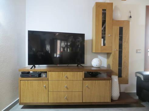 mobile per soggiorno, porta tv di falegnameria ziranu di balvis | homify
