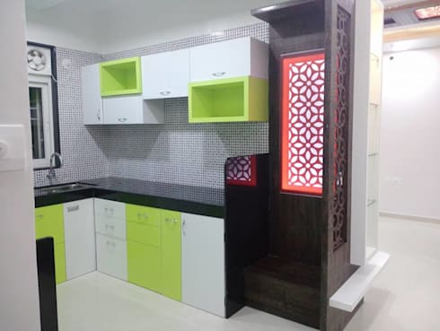 2 BHK RESIDENTIAL PROJECT  @2016: modern Kitchen by SHARADA INTERIORS
