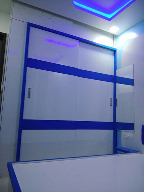 2 BHK RESIDENTIAL PROJECT  @2016: modern Bedroom by SHARADA INTERIORS