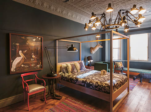 The Black House: eclectic Bedroom by Etienne Hanekom Interiors