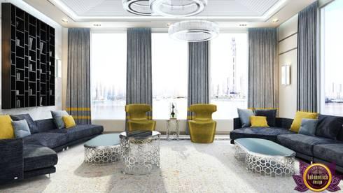 Contemporary interior of Katrina Antonovich: minimalistic Living room by Luxury Antonovich Design