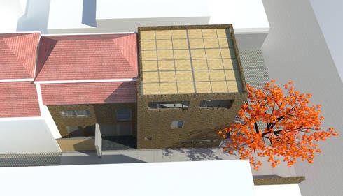 Vista superior proyecto: Casas de estilo moderno por DIMA Arquitectura y Construcción