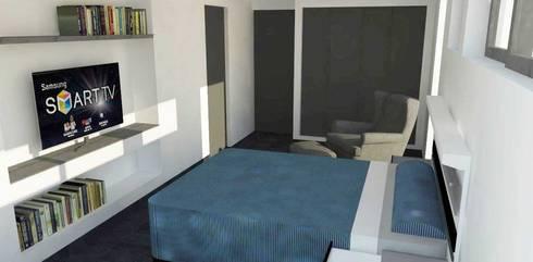 Dormitorio principal: Dormitorios de estilo moderno por DIMA Arquitectura y Construcción