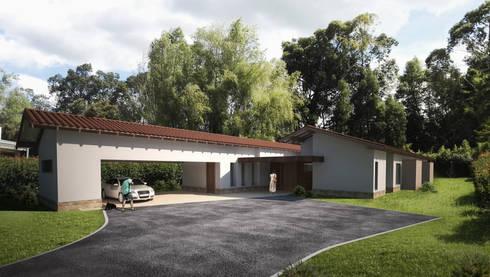 Render Casa SP:  de estilo  por DOS Arquitectos