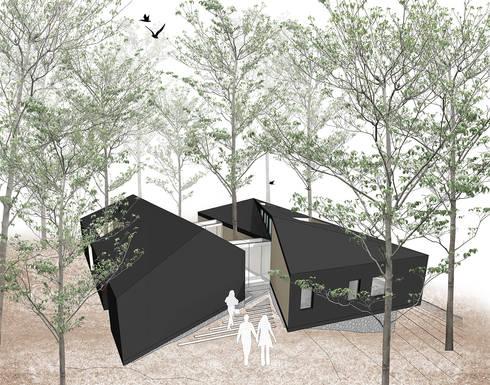 Vista acceso: Casas de estilo moderno por GAALGO Arquitectos